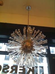 chandeliers teardrop glass chandelier dandelion for at a and nickel the polished frame has
