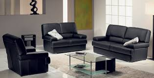 cheap contemporary furniture with black sofa and white carpet with table glass and floor