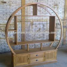 circular furniture. solid teak wood circular tv stand best quality furniture indonesia exporter