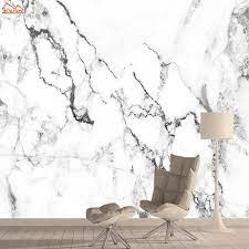 White Marble Wallpapers for Living Room ...
