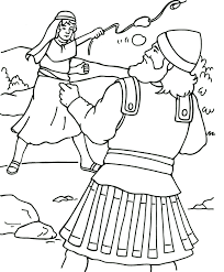 Small Picture David and Goliath Coloring Page Bible David Pinterest