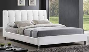 Modern bed Twin Baxton Studio Vino Modern Bed With Upholstered Headboard Queen White Amazoncom Amazoncom Baxton Studio Vino Modern Bed With Upholstered
