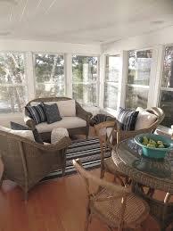 sunroom wicker furniture. coastal cottage patio with wicker furniture sunroom