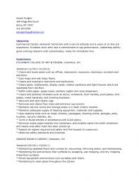 Janitor Resume Sample Custodian Job Description for Resume Best Of Janitor Resume 12