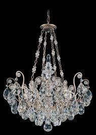 schonbek 3787 23tk renaissance 8 light crystal chandelier in etruscan gold with golden teak crystal from swarovski