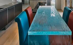 this textured countertop gives a whole new meaning to waterfall edge photo source