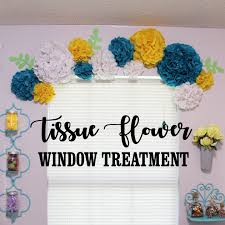 Tissue Paper Flower Ideas Unique Simple Tissue Paper Flower Window Treatment Ideas