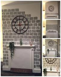 painting fireplace how to paint a faux brick fireplace project idea painting cast iron fireplace insert