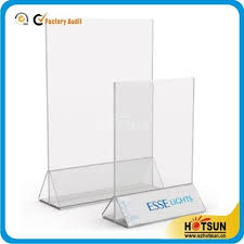 Menu Display Stands Restaurant Clear acrylic restaurant menu holder and menu display stand HS 43