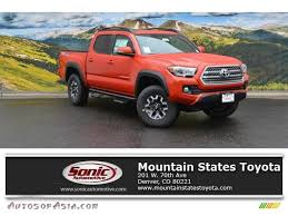 2016 Toyota Tacoma TRD Off-Road Double Cab 4x4 in Inferno Orange ...