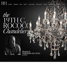 the 19th c rococo chandelier