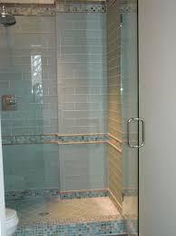 blue glass tile shower fair bathroom glass tile shower