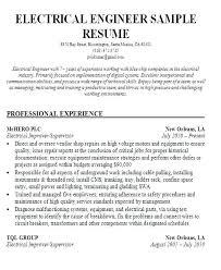 Electrical Engineer Resume Electrical Engineer Resume Electrical