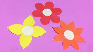 Glace Paper Flower How To Make Easy Flower With Color Paper Diy Paper Flowers Making