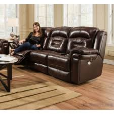 Southern Motion Avatar Double Reclining Sofa with Power Headrest
