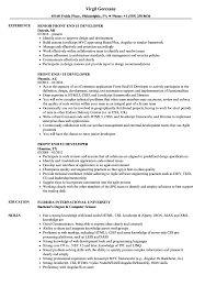 Front End Ui Developer Resume Samples Velvet Jobs