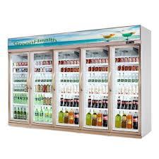 commercial 5 glass door refrigerator freezer fan cooling type images