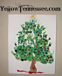 Adorable Hand And Foot Print Christmas Tree Craft  Yellow TennesseeChristmas Tree Feet Craft