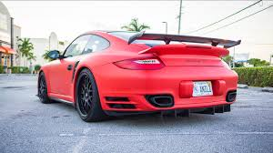 porsche 911 turbo matte black. porsche 911 turbo s matte red and black vinyl wrap by 3m certified florida car youtube
