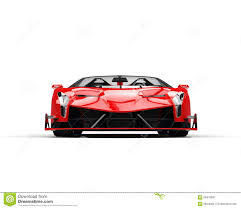 Red Sports Supercar - Front View  7