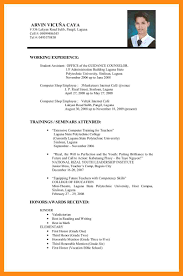 8 Sample Of Cv For Job Application Dtn Info