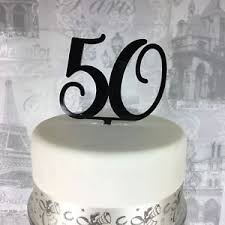 50 Cake Topper Birthday Number Age Acrylic All Colours Glitter 30