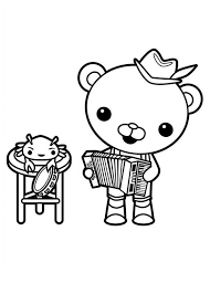 Small Picture Captain Barnacles Playing Accordion in The Octonauts Coloring Page