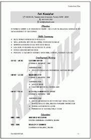 Sample Resume Australia Sample Resume Civil Engineer Australia