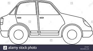 Car Outline Design Car Outline Black And White Stock Photos Images Alamy