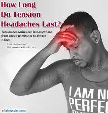 tension headache for a week