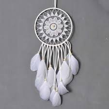 Beach Dream Catchers Online Cheap Large White Dream Catcher White Fringe White 64