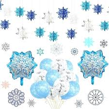wall hanging decorations frozen party snowflakes decorations hollow snowflake paper garland wall hanging decoration winter party large