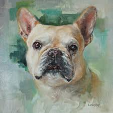 custom pet portrait lola the french bulldog oil painting on canvas by heather