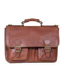 italian old school leather briefcase i medici