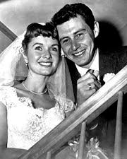 eddie fisher and debbie reynolds. Beautiful Eddie Debbie Reynolds And Eddie Fisher At Their Wedding In 1955 In And O