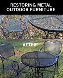 furniture metal. how to take your rusty outdoor metal furniture and restore it u