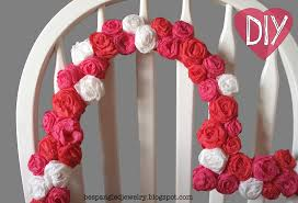 how to make a crepe paper rose covered heart frame valentines day craft tutorial