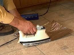 how to fix curling vinyl floor tile