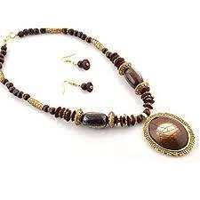 Buy Zephyrr <b>Fashion</b> Necklace Earrings Set Tibetan <b>style Beaded</b> ...
