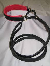 custom leather dog padded french martingale leash