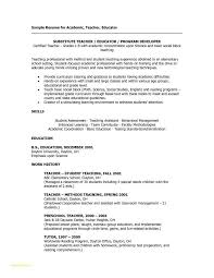 Substitute Teacher Resume Amazing 60 Unique Substitute Teacher Resume Examples Aggiegeeks