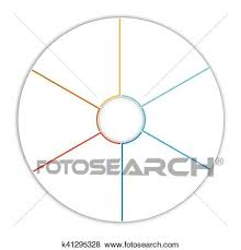 6 Piece Pie Chart Template Template Infographic Pie Chart Diagram 6 Options Stock