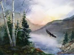 On Eagle's Wings Painting by Polly Barrett