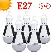 Portable Outdoor <b>Camping</b> Tent Lamp <b>E27</b> 7W <b>LED</b> Solar Panel ...