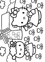Disegno Hello Kitty Numero 9 Da Stampare E Colorare