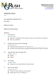 How To Write An Agenda Of A Meeting Best One Page Agenda Template For A 50 Minute Meeting