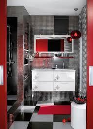 Dark Red Bathroom Red Black And White Bathroom Decor Brown Varnished Wooden Sink