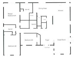 3 Bedroom Open Floor House Plans Awesome Design