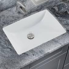 undermount bathroom sink. Glazed Vitreous China Rectangular Undermount Bathroom Sink With Overflow I