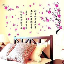 headboard wall art sticker x cm flower decal ideas above wa